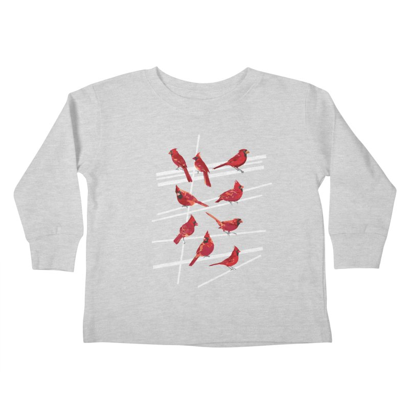 even more cardinals Kids Toddler Longsleeve T-Shirt by upso's Artist Shop