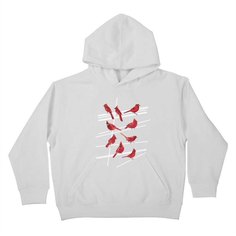 even more cardinals Kids Pullover Hoody by upso's Artist Shop