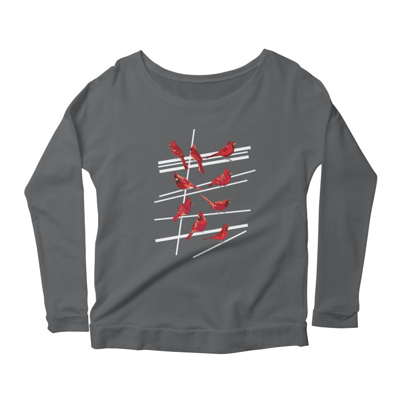 even more cardinals Women's Longsleeve Scoopneck  by upso's Artist Shop