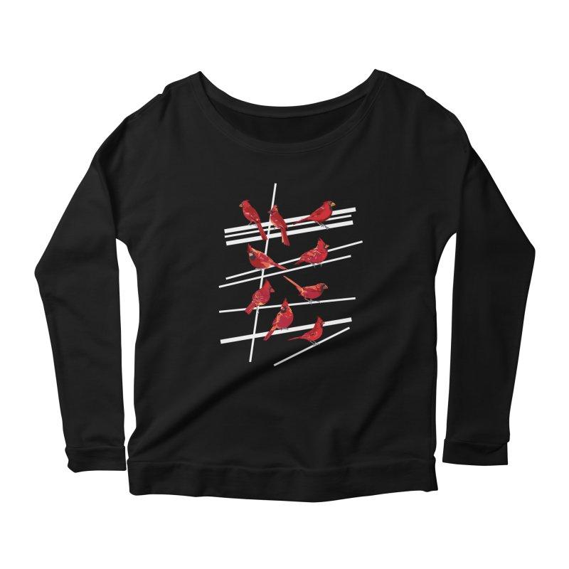 even more cardinals Women's Scoop Neck Longsleeve T-Shirt by upso's Artist Shop