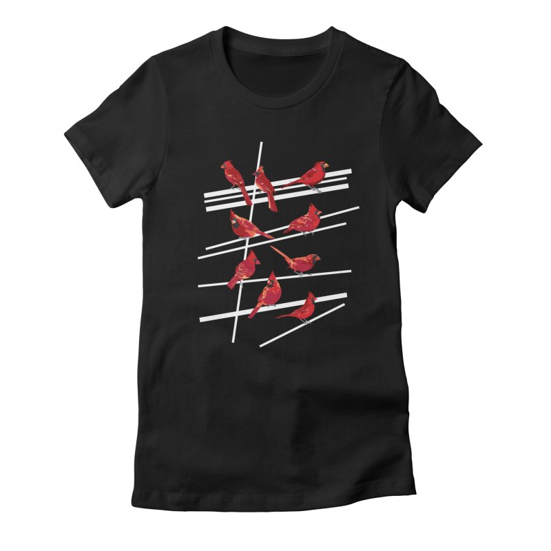 even more cardinals Women's Fitted T-Shirt by upso's Artist Shop