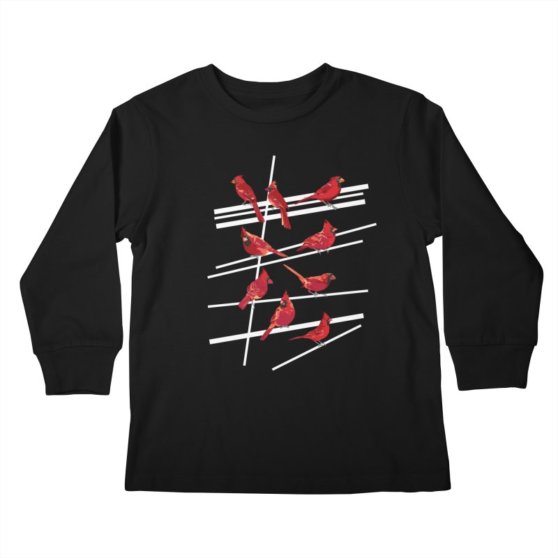 even more cardinals Kids Longsleeve T-Shirt by upso's Artist Shop