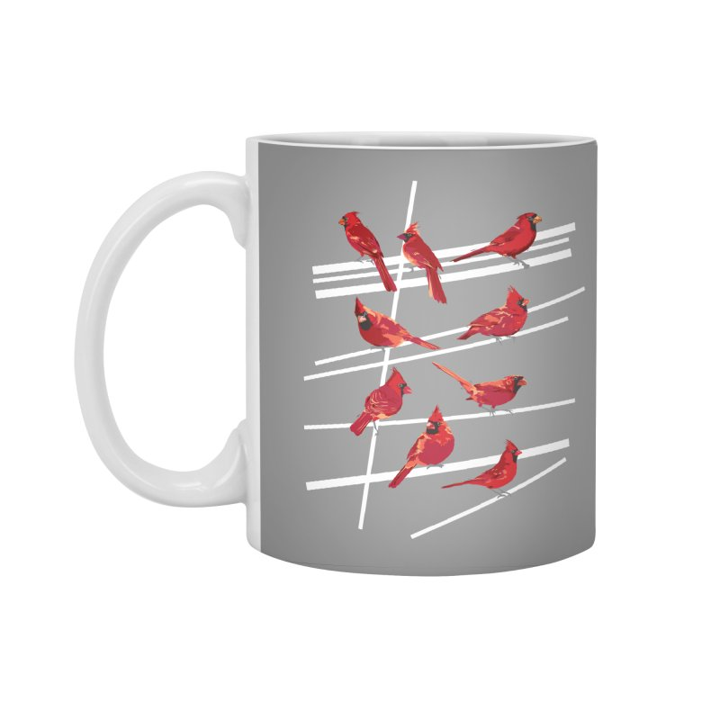 even more cardinals Accessories Standard Mug by upso's Artist Shop