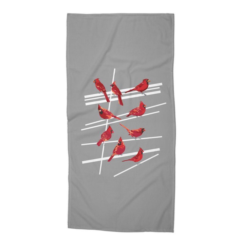 even more cardinals Accessories Beach Towel by upso's Artist Shop