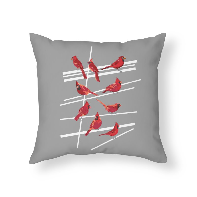 even more cardinals Home Throw Pillow by upso's Artist Shop