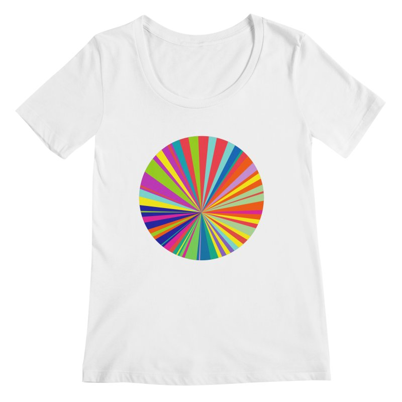 color wheel Women's Regular Scoop Neck by upso's Artist Shop