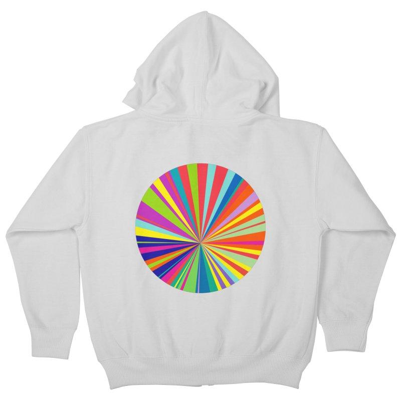 color wheel Kids Zip-Up Hoody by upso's Artist Shop