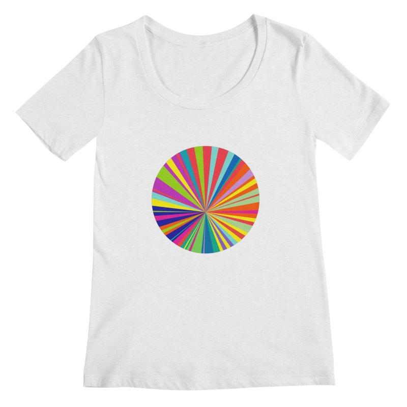 color wheel Women's Regular Scoop Neck by upso's Artist Shop