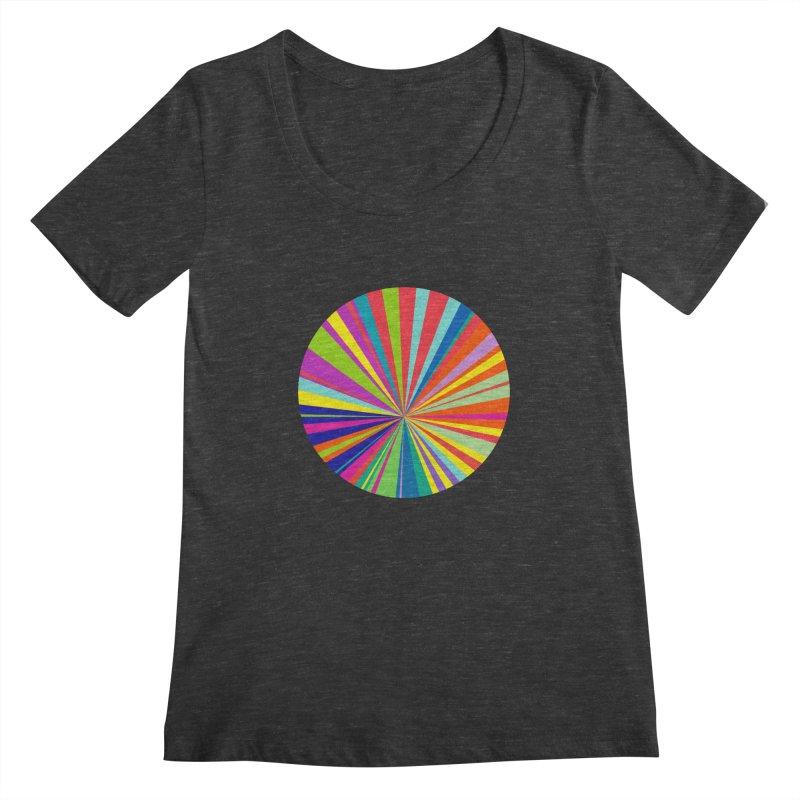 color wheel Women's Scoopneck by upso's Artist Shop
