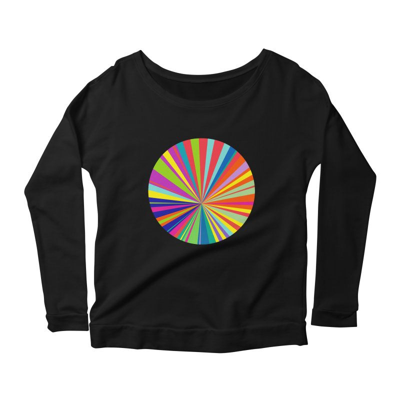 color wheel Women's Longsleeve Scoopneck  by upso's Artist Shop