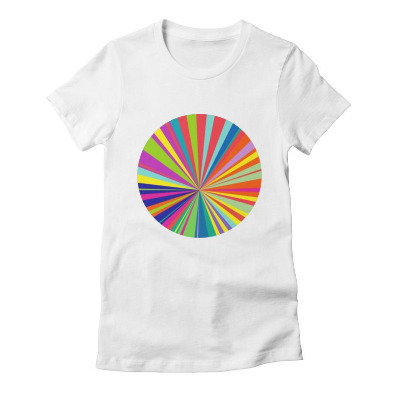 color wheel Women's Fitted T-Shirt by upso's Artist Shop