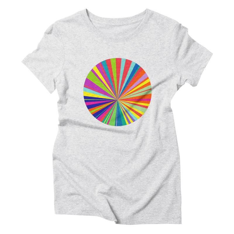 color wheel Women's Triblend T-shirt by upso's Artist Shop