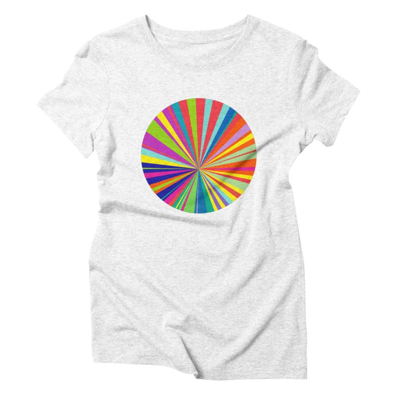 color wheel Women's Triblend T-shirt by upso's Artist Shop