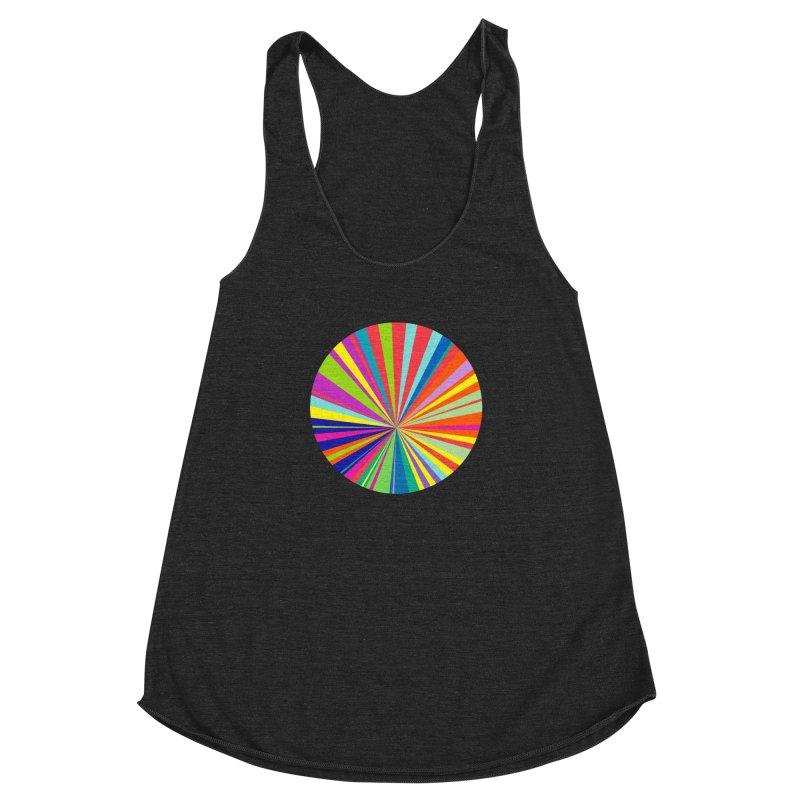 color wheel Women's Racerback Triblend Tank by upso's Artist Shop