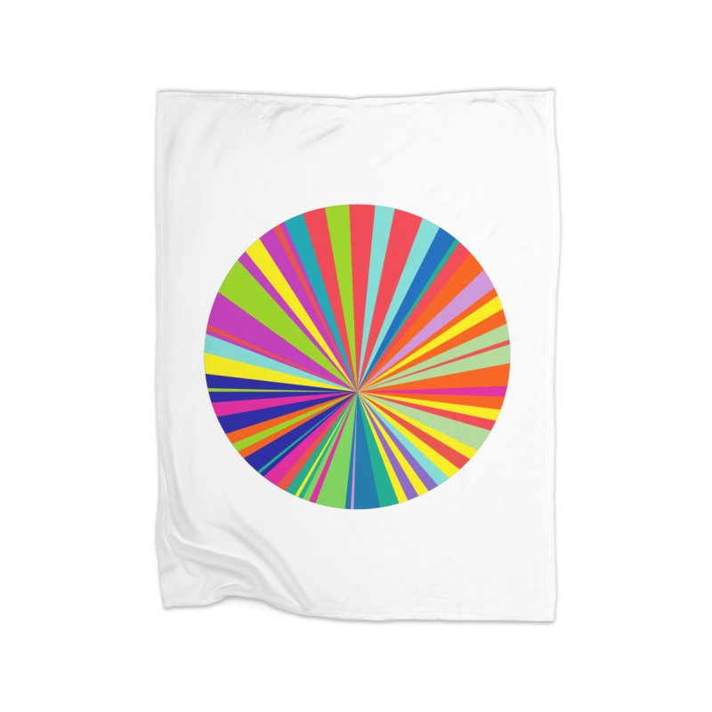 color wheel Home Fleece Blanket Blanket by upso's Artist Shop