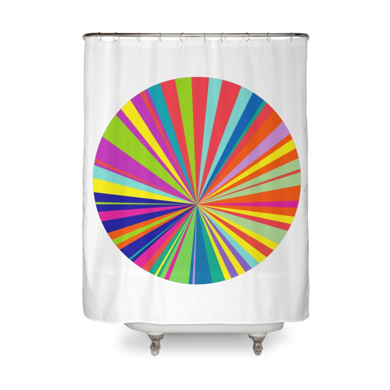 color wheel Home Shower Curtain by upso's Artist Shop