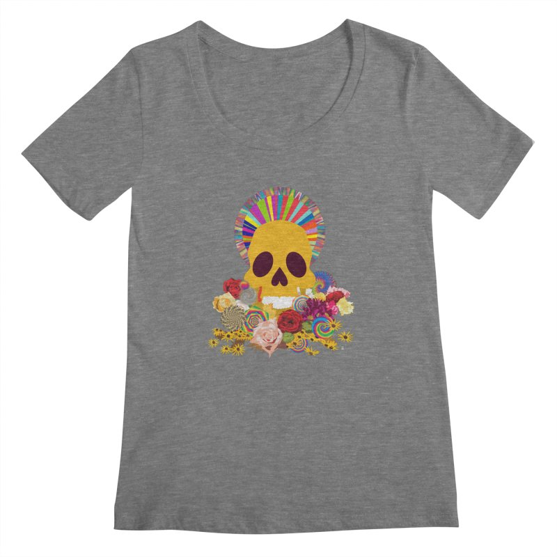 you're going to die Women's Scoopneck by upso's Artist Shop