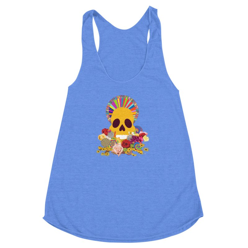 you're going to die Women's Racerback Triblend Tank by upso's Artist Shop