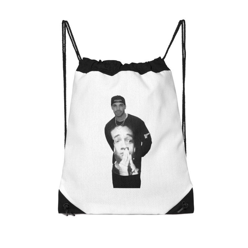 drake & jaden Accessories Drawstring Bag Bag by upso's Artist Shop