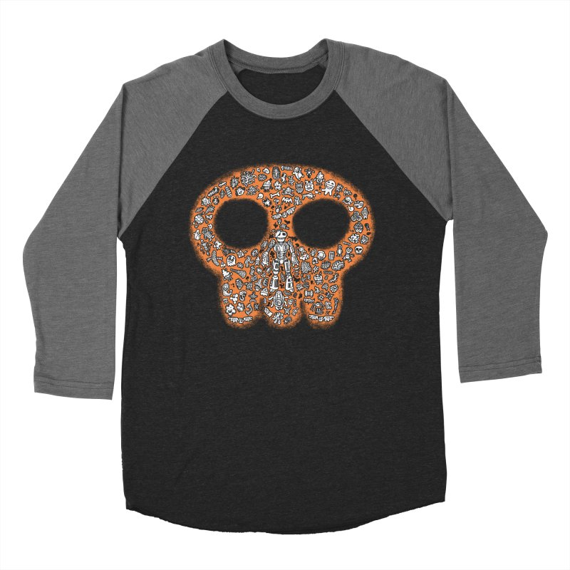Skullcrobe Men's Baseball Triblend Longsleeve T-Shirt by upstartthunder's Artist Shop