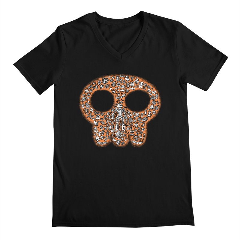 Skullcrobe Men's Regular V-Neck by upstartthunder's Artist Shop
