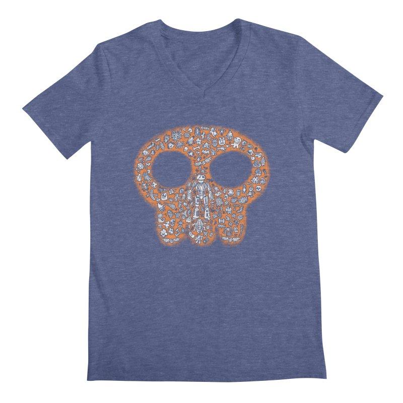 Skullcrobe Men's V-Neck by upstartthunder's Artist Shop