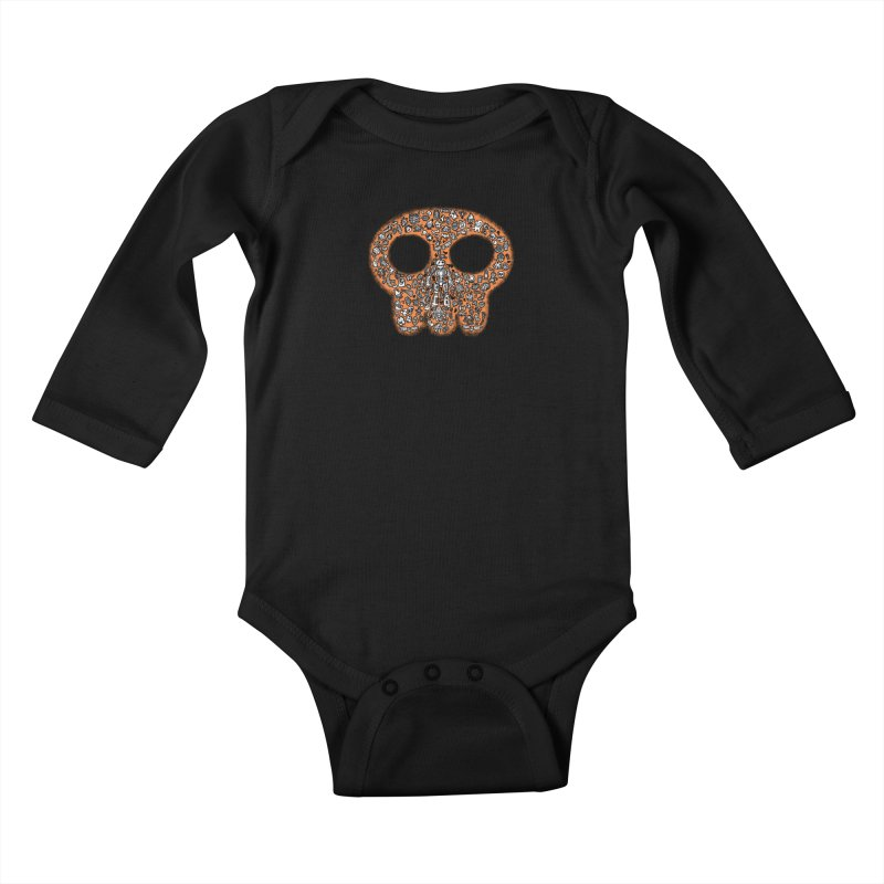 Skullcrobe Kids Baby Longsleeve Bodysuit by upstartthunder's Artist Shop
