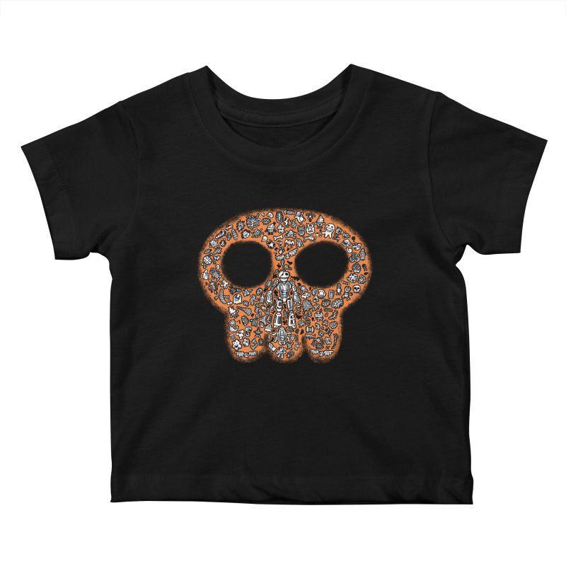 Skullcrobe Kids Baby T-Shirt by upstartthunder's Artist Shop