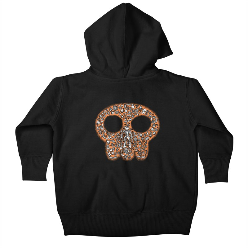 Skullcrobe Kids Baby Zip-Up Hoody by upstartthunder's Artist Shop