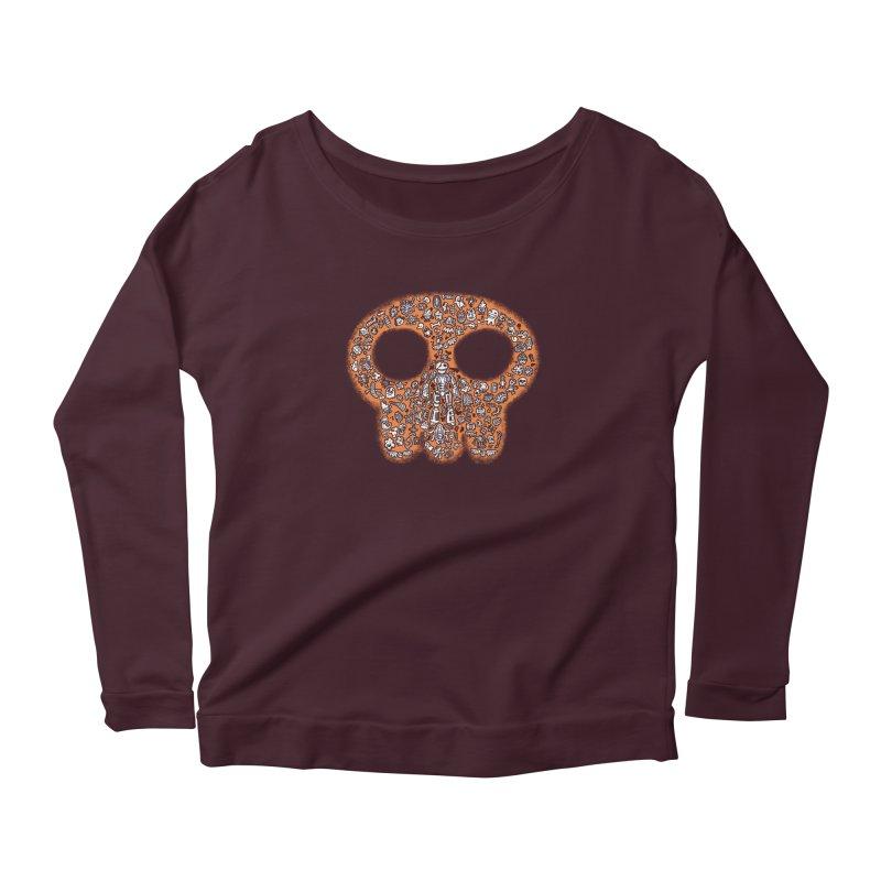 Skullcrobe Women's Scoop Neck Longsleeve T-Shirt by upstartthunder's Artist Shop