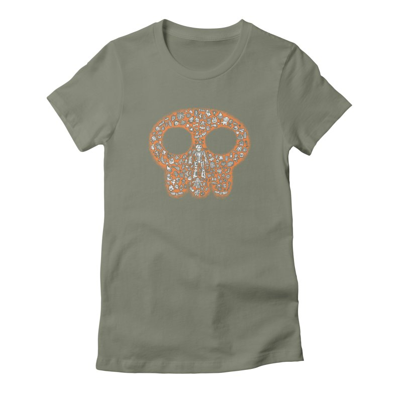 Skullcrobe Women's Fitted T-Shirt by upstartthunder's Artist Shop