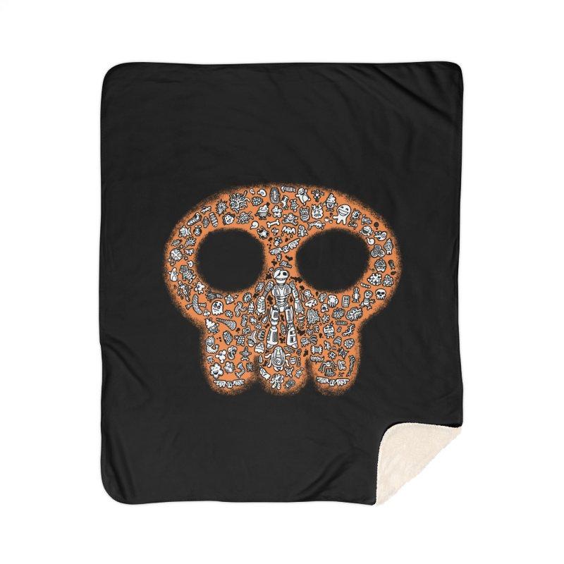 Skullcrobe Home Sherpa Blanket Blanket by upstartthunder's Artist Shop