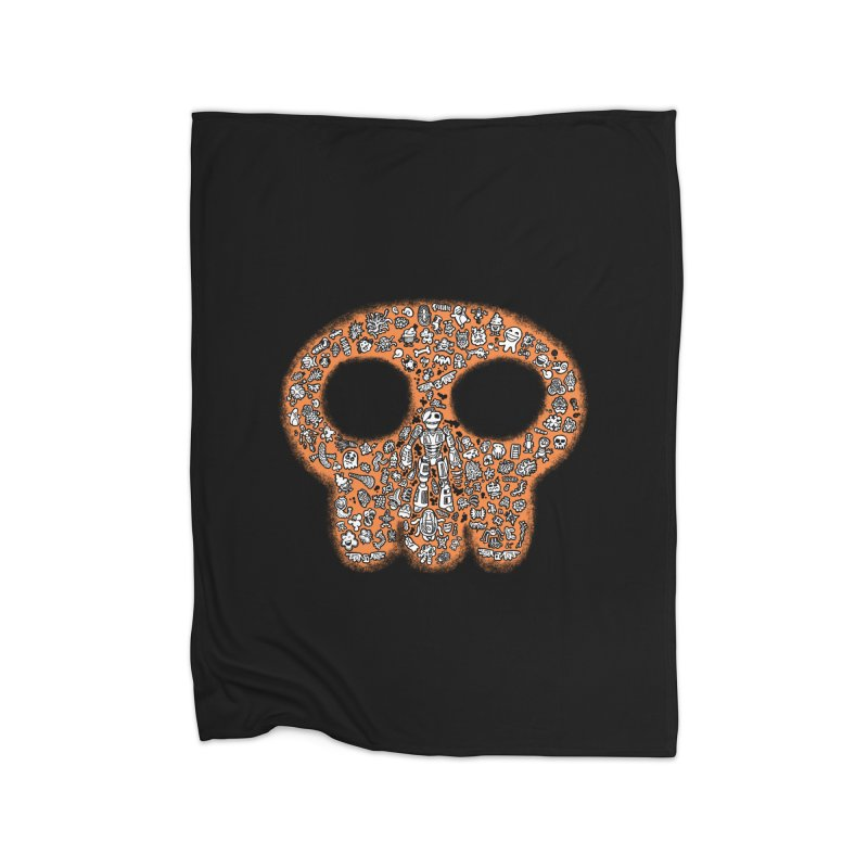 Skullcrobe Home Fleece Blanket Blanket by upstartthunder's Artist Shop