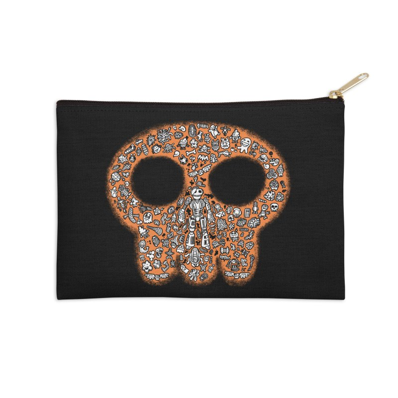 Skullcrobe Accessories Zip Pouch by upstartthunder's Artist Shop