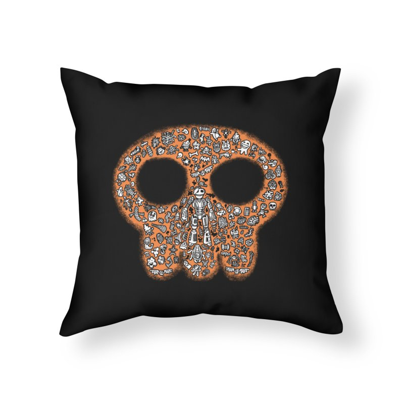 Skullcrobe Home Throw Pillow by upstartthunder's Artist Shop