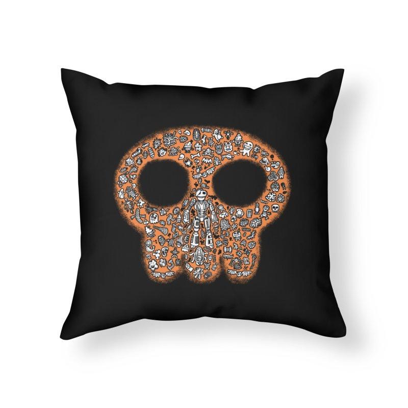 Skullcrobe Home Throw Pillow by upstartthunder's Artist Shop