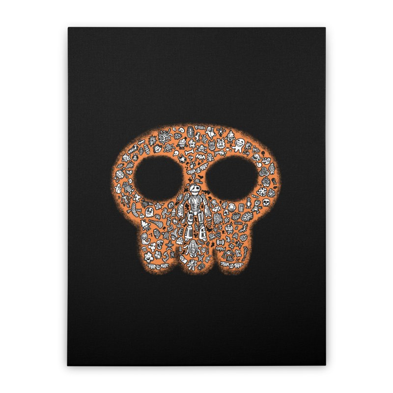 Skullcrobe Home Stretched Canvas by upstartthunder's Artist Shop