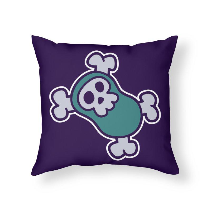 BoneBean Home Throw Pillow by upstartthunder's Artist Shop