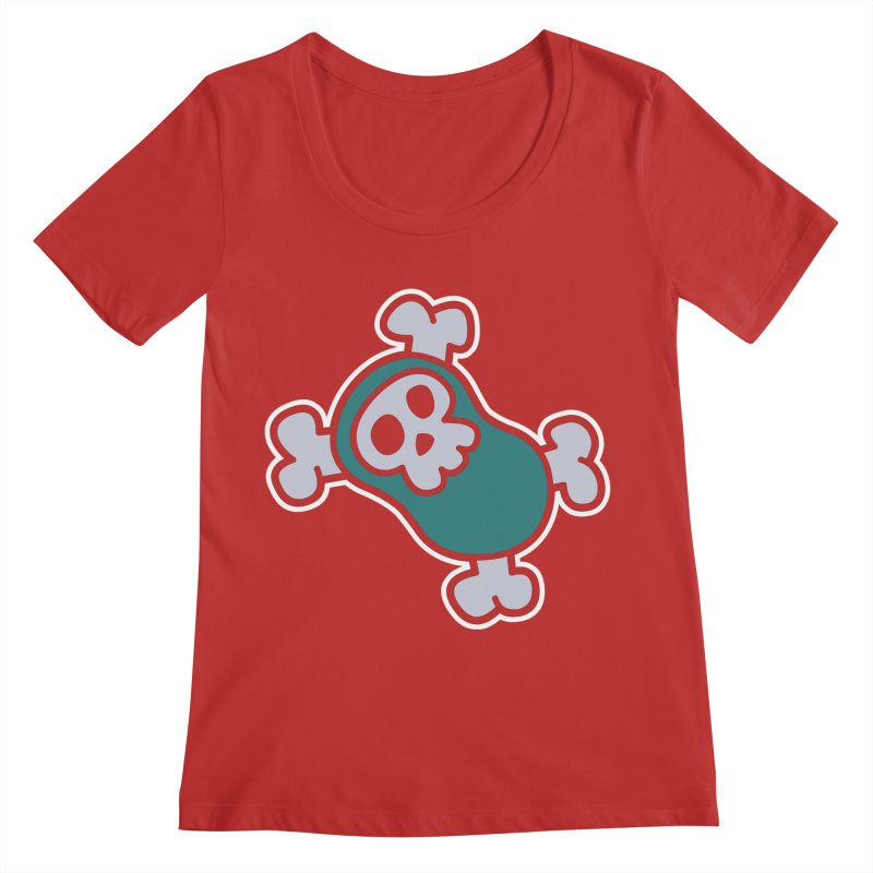BoneBean Women's Regular Scoop Neck by upstartthunder's Artist Shop
