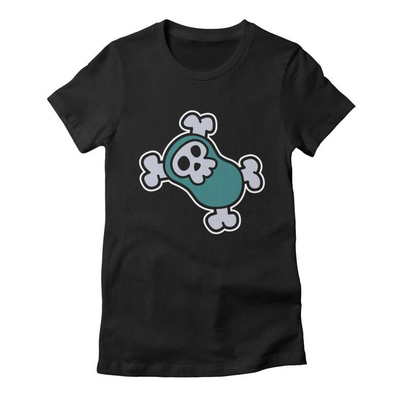 BoneBean Women's Fitted T-Shirt by upstartthunder's Artist Shop