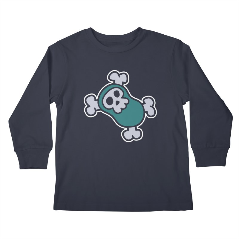 BoneBean Kids Longsleeve T-Shirt by upstartthunder's Artist Shop