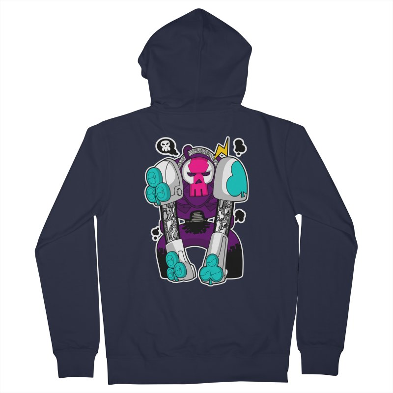 ClubBot Men's Zip-Up Hoody by upstartthunder's Artist Shop