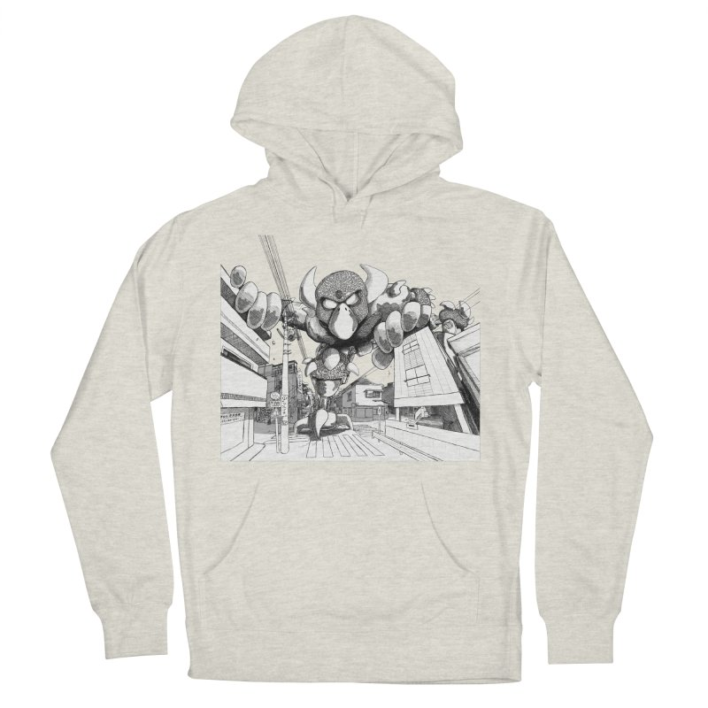 Kaiju Women's French Terry Pullover Hoody by upstartthunder's Artist Shop