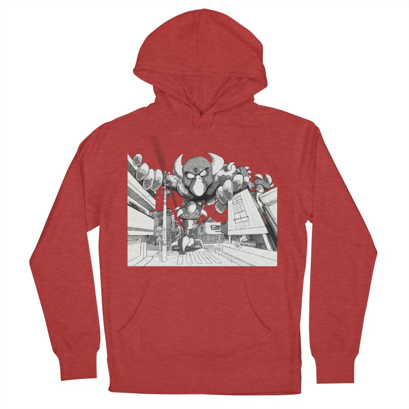 Kaiju Men's French Terry Pullover Hoody by upstartthunder's Artist Shop