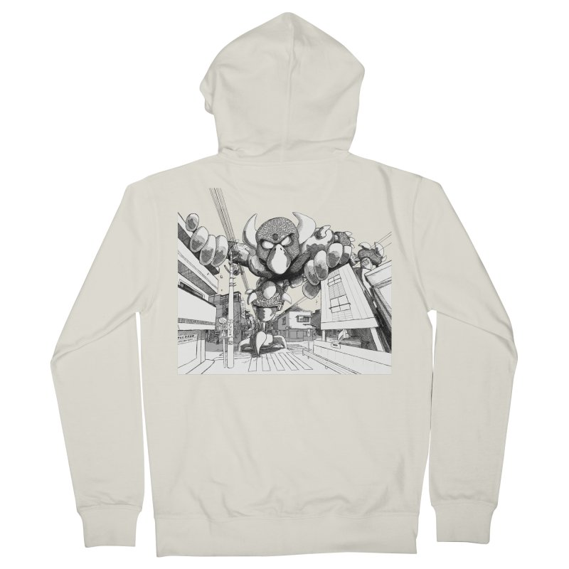 Kaiju Men's Zip-Up Hoody by upstartthunder's Artist Shop