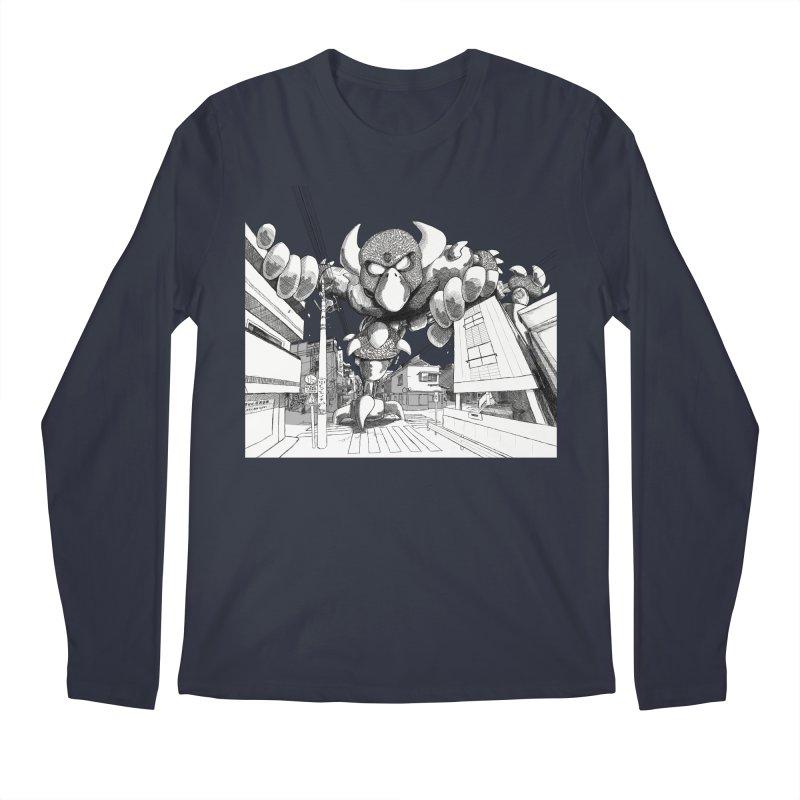 Kaiju Men's Regular Longsleeve T-Shirt by upstartthunder's Artist Shop