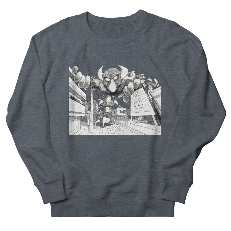 Kaiju Men's French Terry Sweatshirt by upstartthunder's Artist Shop