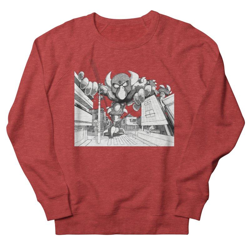 Kaiju Men's French Terry Sweatshirt by upstartthunder's Artist Shop
