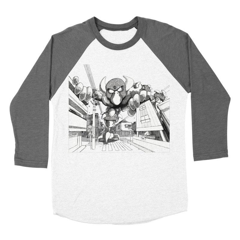 Kaiju Women's Baseball Triblend T-Shirt by upstartthunder's Artist Shop
