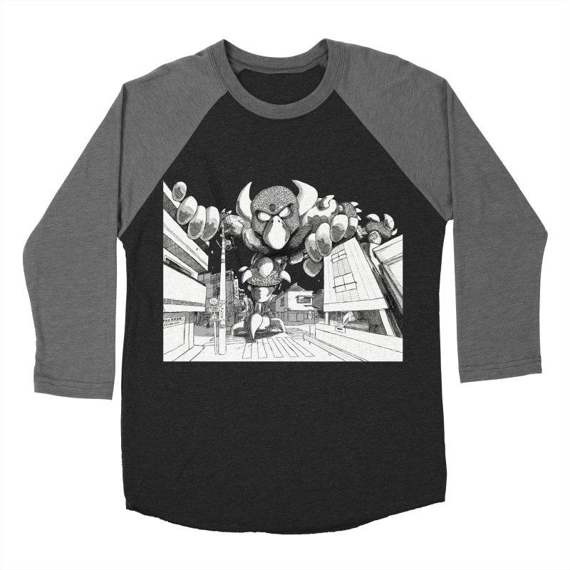 Kaiju Women's Baseball Triblend Longsleeve T-Shirt by upstartthunder's Artist Shop